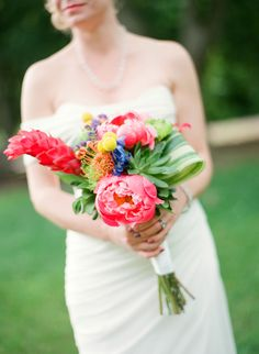 Colorful and Creative Bridal Bouquet