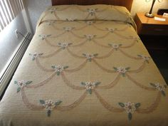 Beautiful vintage chenille bedspread.