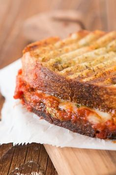Pesto Meatball Panini with pesto butter on the outside, holy moly it was awesome! http://ohsweetbasil.com