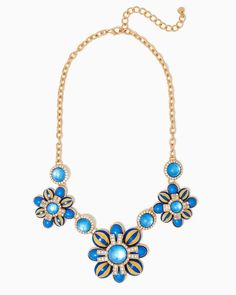 charming charlie | Glassy Meadow Statement Necklace | UPC: 410006996724 #charmingcharlie