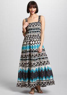 CHAUDRY              Sleeveless Printed Maxi Dress