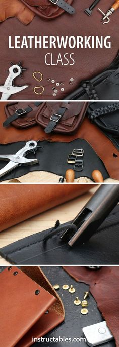 Learn the fundamental skills you need to start working with leather by making simple accessories you can customize! Learn: cutting, gouging, folding, hand sewing, gluing, riveting, adding hardware, and creating simple details.