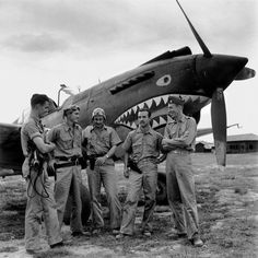 (c) Magnum PhotosBURMA—Mingladon Air Field, near Rangoon. The Flying Tigers, a group of American volunteers trained by Col. Claire Chennault in China, flew Curtiss P-40 Warhawk fighter planes to defend Burma against Japanese invaders, 1942.
