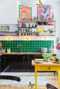 agreedbifunow A Vibrant Fun Place To Live   Decoholic -  colourful kitchen  - #ApartmentDesign #ApparelDesign #decoholic #Fun #GraphicDesign #live #LogosDesign #place #vibrant<br> Apartment Interior Design, Interior Design Kitchen, Modern Interior Design, Interior Decorating, Interior Architecture, Simple Interior, Interior Sketch, Interior Office, Farmhouse Interior