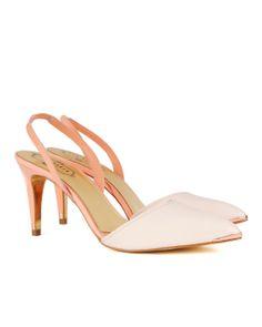http://www.tedbaker.com CAAREEN Sling back court shoes      £120