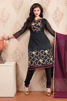 This is the image gallery of Natasha Couture Salwar Kameez Collection 2014. You are currently viewing Natasha Couture Black Cotton Silk Salwar Kameez with Gold Detailing. All other images from this gallery are given below. Give your comments in comments section about this. Also share stylehoster.com with your friends.
