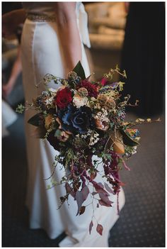 Jen's bouquet included ornamental cabbages for her Liverpool Town Hall wedding.