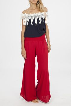 8505d69ab2cbb Your Fourth of July outfit is here! The Shag Top and Red Riding Hood  Palazzos