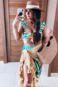 Trend-setting styles, casual & more! Red Swimsuit, Emily Ann Gemma, The Sweetest Thing Blog, Brown Eyed Girls, Summer Outfits Women, Summer Dresses, Vacation Outfits, Girl Blog, The Beach