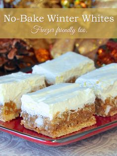 Winter White Cookies – No bake and freezer friendly These Winter White cookies are some of our family favourites during the Holidays, especially. They are easy, no bake and freeze well, making them ideal for your Holiday treat list. No Bake Treats, No Bake Cookies, No Bake Desserts, Just Desserts, Yummy Treats, Sweet Treats, Dessert Recipes, Bar Cookies, Holiday Baking