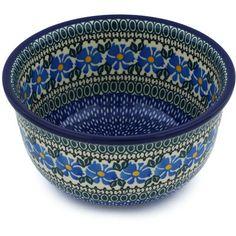 Polish Pottery 8-inch Bowl   Boleslawiec Stoneware   Polmedia H7892G   Polmedia