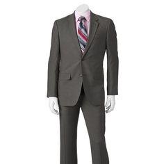 Men's Apt. 9® Slim-Fit Unhemmed Suit, Size: 38R 30, Med Grey