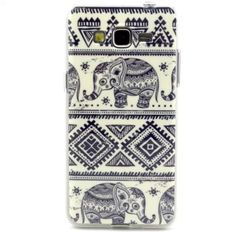 Samsung Galaxy Grand Prime G530H/DS Case, IVY Ceramic Elephant Graphic,Snap-on TPU&IMD Soft Case Cover Skin For Samsung Galaxy Grand Prime G530H/DS