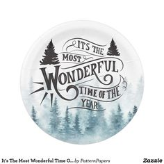 Choose from a variety of paper plates for any occasion on Zazzle. Discover our amazing selection of custom paper plates today. Christmas Paper Plates, Party Plates, Time Of The Year, Wonderful Time, Party Signs
