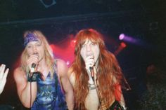 Stevie & Davy Vain at THE ROXY in Hollywood 1989/90