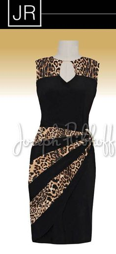 Joseph Ribkoff African Print Skirt, African Print Dresses, African Fashion Dresses, African Dress, Church Fashion, Animal Print Fashion, Fashion And Beauty Tips, Evening Outfits, Vintage Inspired Dresses