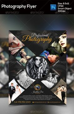 Photography Flyer, Photography Business, Photography Words, Camera Photography, Fashion Photography, Event Flyer Templates, Flyer Design Templates, Print Templates, Travel Brochure Design