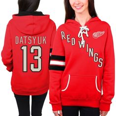 Women's Detroit Red Wings Pavel Datsyuk Old Time Hockey Red Heidi Hoodie - Shop.NHL.com