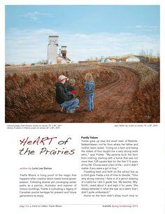 "Artist to Collect: Yvette Moore ""HeART of the Prairies"" by Lorie Lee Steiner ARABELLA Spring 2013"