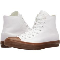 Converse Chuck Taylor All Star II Gum Hi (White/White/Gum) Classic... ($60) ❤ liked on Polyvore featuring shoes, sneakers, white sneakers, star sneakers, arch support sneakers, grip trainer and converse sneakers