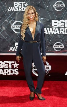 Laverne Cox kept it simple at this year's BET Awards.  Follow us! https://twitter.com/StylebyCourted