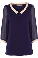 Cute blouse, you guess it... tucked into capris, or a pencil skirt!