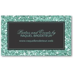 Trendy #Mint #Glitter Business Card by The Spotted Olive. #businesscard