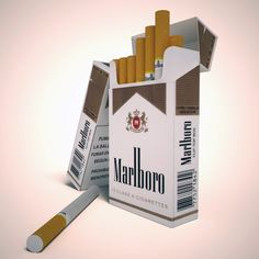model Marlboro lights cigarette pack, available formats MAX, OBJ, , ready for animation and other projects Marlboro Blue, Marlboro Lights, Holi Photo, 3d Projects, Willis Tower, Stencil, Smoking, 3d Printing, Party