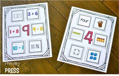 Love these number mats for small groups or centers!!