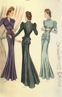 1940s French fashion plate.