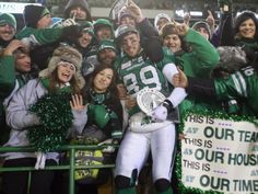 Saskatchewan Roughriders receiver Chris Getzlaf celebrates with fans following his team's 45-23 victory over the Hamilton Tiger-Cats during ...