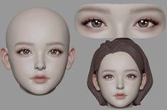 ArtStation - DaegalChiGi, June Ho Cho 3d Model Character, Character Art, Character Design, 3d Face Model, Modelos 3d, Digital Art Girl, Art Reference Poses, Art Model, Anime Art Girl