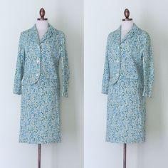 1960s Jeune Ligue by Cherberg floral suit by inheritedattire