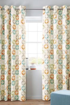Bright, patterned and no doubt will give you a smile in the morning. The Textured Circles Print Eyelet Curtains from Next are an easy way to brighten up any room at home.