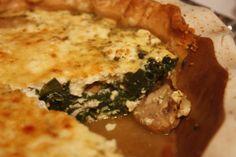 Spinach Feta and Mushroom Quiche