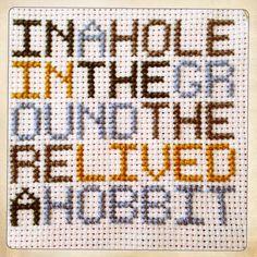 Hobbit cross stitch