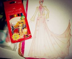 Long Dress#With Faber Castell#