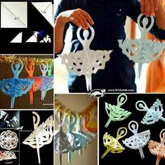 Wonderful DIY Paper Snowflake Ballerina Decoration | WonderfulDIY.com