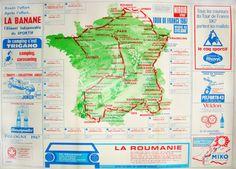 Tour de France map, 1967