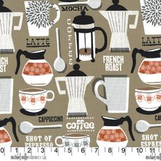 Michael Miller  French Roast in Taupe  1