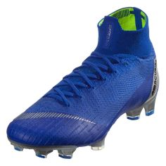 check out d24bb 3dd24 Nike Mercurial Superfly VI Elite FG Soccer Cleat Racer Blue Metallic Silver  Black-4