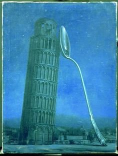 Night in Pisa by René Magritte, 1953
