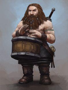 RPG dwarf bard