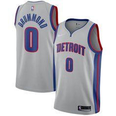 fedd33128 Andre Drummond Detroit Pistons Nike Swingman Jersey - Statement Edition –  Silver