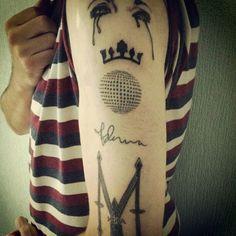 3 eras on one arM! Gotta love it! #Madonna #madonna #Mdna #MDNA #mdnatour #tattoos #Tattoo #Ink #Inspiration #girl #gone #wild #likeaprayer #prayer #logo #Confession #signature #fan #Life