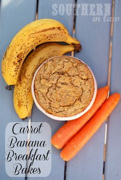 Healthy, Gluten Free Carrot Banana Breakfast Bakes Daniel Fast approved if you use the sugar-free applesauce instead of egg!