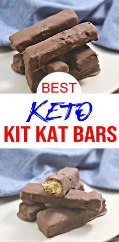 Check out these keto candy bars! EASY keto recipe for the BEST Kit Kat chocolate candy bars. Low carb diet recipe for candy chocolate u will want to eat. Serve as keto desserts, keto snacks, sweet treats, low carb desserts. Keto beginners recipe to add to Keto Desserts, Sugar Free Desserts, Keto Snacks, Dessert Recipes, Recipes Dinner, Breakfast Recipes, Dark Chocolate Recipes, Chocolate Desserts, Chocolate Candies