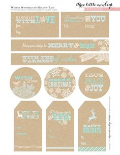 Free christmas printable tags for gifts