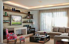 Dicas para sofá na sala de TV e 20 salas para se inspirar