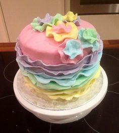 Pastel Ruffle Cake, Baby Birthday